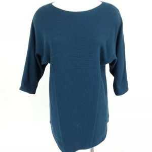 Ann Taylor Sweater Women's Small Teal Long Tunic L